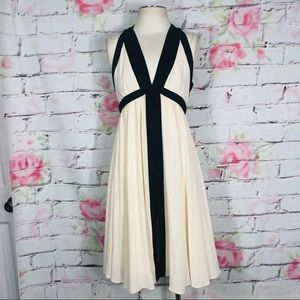 Reiss strappy flowing dress w back zip